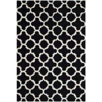 Safavieh Cambridge 4-Foot x 6-Foot Ally Wool Rug in Black/Ivory