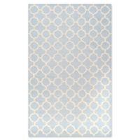 Safavieh Cambridge 5-Foot x 8-Foot Ally Wool Rug in Light Blue/Ivory