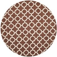 Safavieh Cambridge 6-Foot x 6-Foot Ally Wool Rug in Dark Brown/Ivory