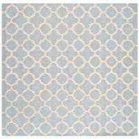 Safavieh Cambridge 6-Foot x 6-Foot Ally Wool Rug in Light Blue/Ivory