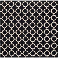 Safavieh Cambridge 6-Foot x 6-Foot Ally Wool Rug in Black/Ivory