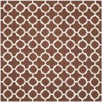 Safavieh Cambridge 6-Foot x 6-Foot Ally Wool Rug in Dark Brown/Ivory