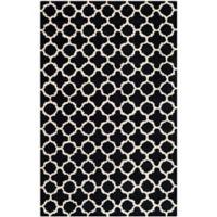 Safavieh Cambridge 6-Foot x 9-Foot Ally Wool Rug in Black/Ivory