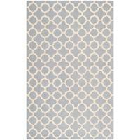 Safavieh Cambridge 6-Foot x 9-Foot Ally Wool Rug in Silver/Ivory