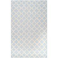 Safavieh Cambridge 6-Foot x 9-Foot Ally Wool Rug in Light Blue/Ivory