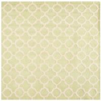 Safavieh Cambridge 8-Foot x 8-Foot Ally Wool Rug in Light Green/Ivory