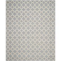 Safavieh Cambridge 8-Foot x 10-Foot Ally Wool Rug in Silver/Ivory