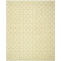 Safavieh Cambridge 9-Foot x 12-Foot Ally Wool Rug in Light Green/Ivory