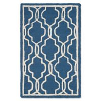 Safavieh Cambridge 2-Foot 6-Inch x 4-Foot Ella Wool Rug in Navy /Ivory