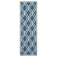 Safavieh Cambridge 2-Foot 6-Inch x 16-Foot Ella Wool Rug in Navy /Ivory