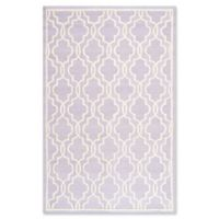 Safavieh Cambridge 4-Foot x 6-Foot Ella Wool Rug in Lavander/Ivory