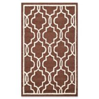Safavieh Cambridge 4-Foot x 6-Foot Ella Wool Rug in Dark Brown/Ivory