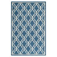 Safavieh Cambridge 4-Foot x 6-Foot Ella Wool Rug in Navy /Ivory