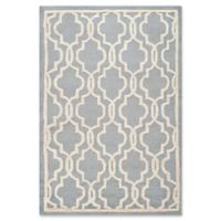 Safavieh Cambridge 4-Foot x 6-Foot Ella Wool Rug in Silver/Ivory