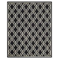 Safavieh Cambridge 8-Foot x 10-Foot Ella Wool Rug in Black/Ivory