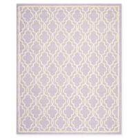 Safavieh Cambridge 8-Foot x 10-Foot Ella Wool Rug in Lavander/Ivory