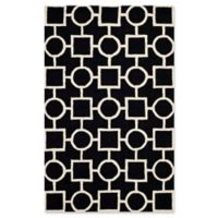 Safavieh Cambridge 4-Foot x 6-Foot Mariel Wool Rug in Black/Ivory