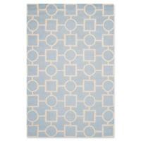 Safavieh Cambridge 5-Foot x 8-Foot Mariel Wool Rug in Light Blue/Ivory