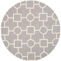 Safavieh Cambridge 6-Foot x 6-Foot Mariel Wool Rug in Silver/Ivory