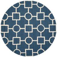 Safavieh Cambridge 6-Foot x 6-Foot Mariel Wool Rug in Navy Blue/Ivory
