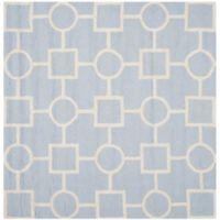 Safavieh Cambridge 6-Foot x 6-Foot Mariel Wool Rug in Light Blue/Ivory