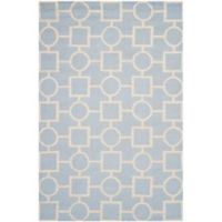Safavieh Cambridge 6-Foot x 9-Foot Mariel Wool Rug in Light Blue/Ivory
