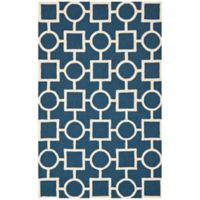 Safavieh Cambridge 6-Foot x 9-Foot Mariel Wool Rug in Navy Blue/Ivory