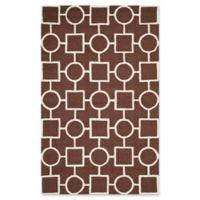 Safavieh Cambridge 6-Foot x 9-Foot Mariel Wool Rug in Dark Brown/Ivory