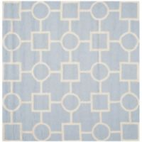 Safavieh Cambridge 8-Foot x 8-Foot Mariel Wool Rug in Light Blue/Ivory