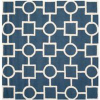 Safavieh Cambridge 8-Foot x 8-Foot Mariel Wool Rug in Navy Blue/Ivory