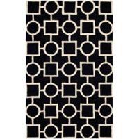 Safavieh Cambridge 8-Foot x 10-Foot Mariel Wool Rug in Black/Ivory