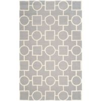 Safavieh Cambridge 9-Foot x 12-Foot Mariel Wool Rug in Silver/Ivory