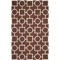 Safavieh Cambridge 9-Foot x 12-Foot Mariel Wool Rug in Dark Brown/Ivory