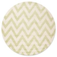 Safavieh Cambridge 6-Foot x 6-Foot Abby Wool Rug in Light Green/Ivory