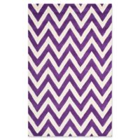 Safavieh Cambridge 6-Foot x 9-Foot Abby Wool Rug in Purple/Ivory