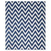 Safavieh Cambridge 7-Foot 6-Inch x 9-Foot 6-Inch Abby Wool Rug in Navy /Ivory