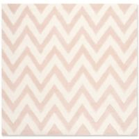 Safavieh Cambridge 8-Foot x 8-Foot Abby Wool Rug in Light Pink/Ivory