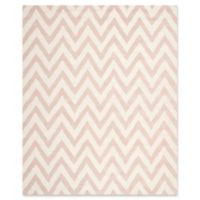 Safavieh Cambridge 8-Foot x 10-Foot Abby Wool Rug in Light Pink/Ivory