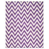 Safavieh Cambridge 8-Foot x 10-Foot Abby Wool Rug in Purple/Ivory