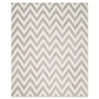 Safavieh Cambridge 8-Foot x 10-Foot Abby Wool Rug in Silver/Ivory