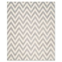 Safavieh Cambridge 9-Foot x 12-Foot Abby Wool Rug in Silver/Ivory