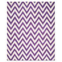 Safavieh Cambridge 9-Foot x 12-Foot Abby Wool Rug in Purple/Ivory