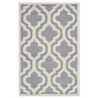 Safavieh Cambridge 2-Foot 6-Inch x 4-Foot Becca Wool Rug in Silver/Ivory