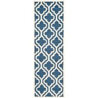 Safavieh Cambridge 2-Foot 6-Inch x 6-Foot Becca Wool Rug in Navy /Ivory