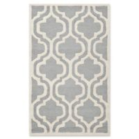Safavieh Cambridge 3-Foot x 5-Foot Becca Wool Rug in Silver/Ivory