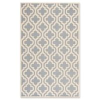 Safavieh Cambridge 4-Foot x 6-Foot Becca Wool Rug in Silver/Ivory