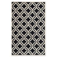 Safavieh Cambridge 4-Foot x 6-Foot Becca Wool Rug in Black/Ivory