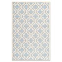 Safavieh Cambridge 5-Foot x 8-Foot Becca Wool Rug in Light Blue/Ivory