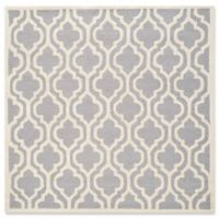 Safavieh Cambridge 6-Foot x 6-Foot Becca Wool Rug in Silver/Ivory