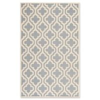 Safavieh Cambridge 6-Foot x 9-Foot Becca Wool Rug in Silver/Ivory